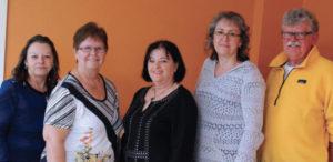 Les membres du conseil d'administration : Louiselle Luneau, Raymonde Poitras, Diane Gaudet-Bergeron, Lili Germain et Réjean Gouin.