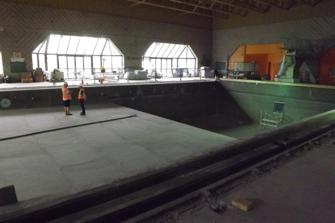 Les travaux, piscine Sophie-Barat :