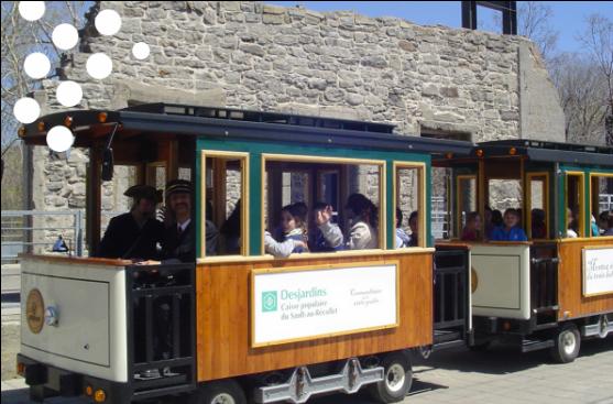 Le train électrique de Cité Historia