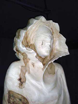 Hommage à Camille Claudel et à la condition sculpture sur bois